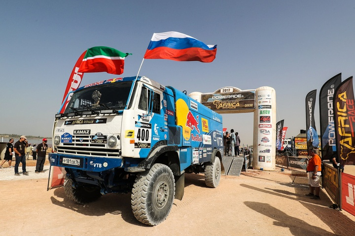 400 KARGINOV Andrey MOKEEV Andrey NIKITIN Dmitrii KAMAZ Ambiance Portrait during the Africa Race 2017 from Monaco to Dakar,  December  31 to January 14th, Africa - Photo Jorge Cunha / DPPI